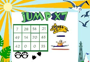7 times table Gameboard